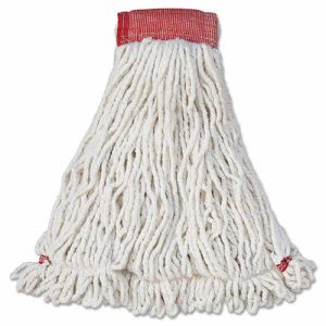Rubbermaid Web Foot Wet Mop Heads, Shrinkless, White, Large, 6 Mops (RCPA253WHI)
