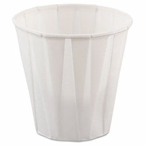 Solo Paper Pleated 3.5oz Souffle Cups, White, 5000 Cups (SCC 450)