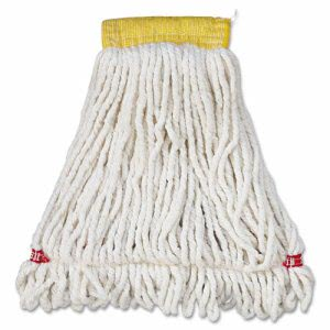 Rubbermaid Web Foot Wet Mop Heads, Shrinkless, White, Small, 6 Mops (RCPA251WHI)
