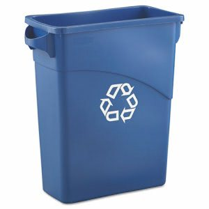 Rubbermaid 3541-73 Slim Jim Recycling Container w/ Handles (RCP 3541-73 BLU)
