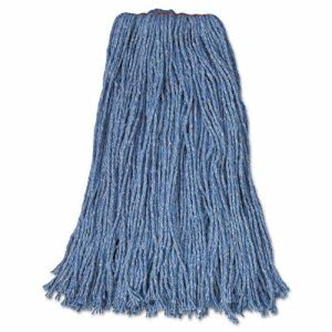 "Rubbermaid Cut-End Blend Mop Heads, Blue, 24oz, 1"" band, 12 Mops (RCPF51812BLU)"