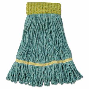 Unisan Mop Super Loop Head, Cotton/Synthetic Fiber, Small, Green (UNS501GN)