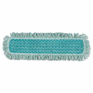 "Rubbermaid Q426 Hygen 24"" Microfiber Dust Mop with Fringe, Green (RCP Q426)"