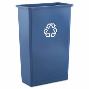 Rubbermaid 354074 Slim Jim 23 Gallon Recycling Container, Blue (RCP354074BLU)