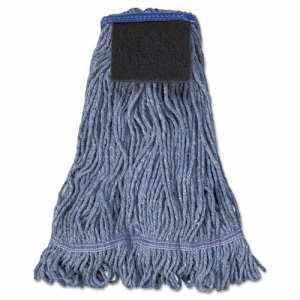 Unisan Mop Head, Loop-End, Cotton With Scrub Pad, Large (UNS903BL)