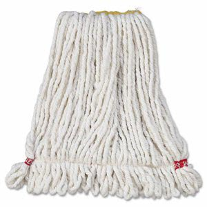 Rubbermaid A211 Web Foot Shrinkless Wet Mop Heads, Small, 6 Mops (RCPA211WHI)