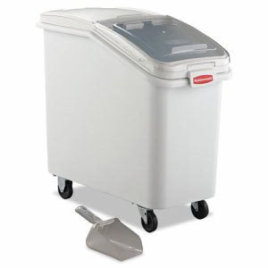 Rubbermaid 360288 ProSave Mobile Ingredient Bin, White (RCP360288WHI)