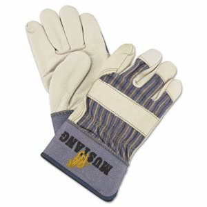 Memphis Mustang Leather Palm Gloves, Blue/Cream, Large (MPG1935L)