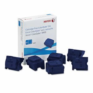 Xerox 108R01014 Ink Sticks, 16900 Page-Yield, Cyan, 6/Box (XER108R01014)