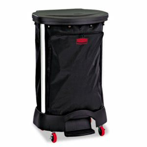Rubbermaid 6350 Premium Step-On Linen Hamper Bag, Black (RCP 6350 BLA)