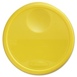 "Rubbermaid 5730 Round Storage Container Lid, 13 1/2"" dia, Yellow (RCP5730YEL)"