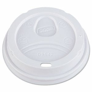 Dixie 9542 Dome Drink-Thru Paper Hot Cup Lids, White, 1,000 Lids (DXED9542)