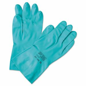 Ansellpro Sol-Vex Sandpatch-Grip Nitrile Gloves, Green, Size 10 (ANS3717510)
