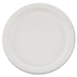 "Solo Eco-Forward Clay-Coated Paper Plates, 8.5"", Deep Well, 125/Pack (SCCMP9B)"