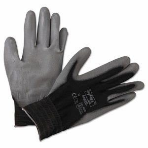 Ansellpro HyFlex Lite Gloves, Black/Gray, Size 9, 12 Pair (ANS116009BK)
