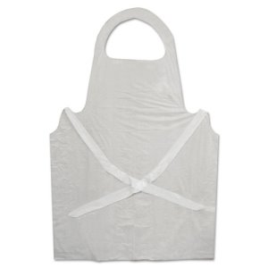Boardwalk Disposable Apron, Polypropylene, White, 100/Pack (BWK390)