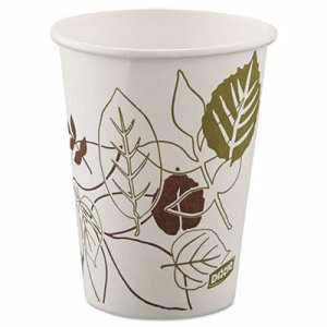 Dixie Pathways Paper Hot Cups, 8 oz, 25 per Pack (DXE2338WSPK)