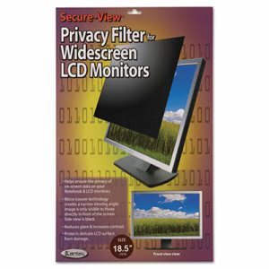 "Kantek Secure View LCD Monitor Privacy Filter For 18.5"" Widescreen (KTKSVL185W)"