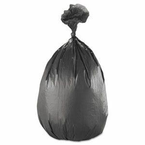 60 Gallon Black Trash Bags, 38x60, 17mic, 200 Bags (IBS S386017K)