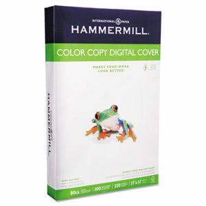 Hammermill Color Copy Digital Cover Stock, 80 lbs., 11 x 17, White (HAM120037)