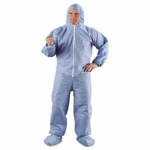 KleenGuard A65 Hood & Boot Flame-Resistant Coveralls, Blue, 2XL (KCC45355)