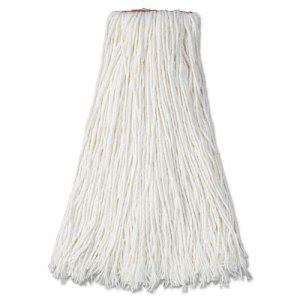 "Rubbermaid Cut End Mop Heads, Rayon, 24-oz, 1"" Headband, 12 Mops (RCPF417WHI)"