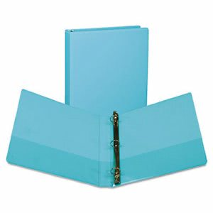 "Samsill View Ring Binder, 11 x 8-1/2, 1"" Capacity, Turquoise, 2/Pack (SAMU86377)"