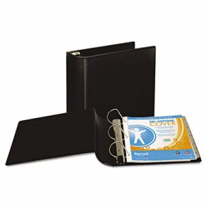 "Samsill Top Performance DXL Angle-D View Binder, 3"" Capacity, Black (SAM17780)"