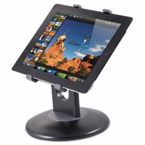 Kantek Stand for 7-10 Inch Tablets, Swivel Base, Plastic, Black (KTKTS710)