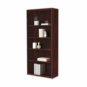 Hon 10700 Series Bookcase, 5 Shelves/3 Adjustable, 32-3/8w x 13-1/8d x 71h, Mahogany (HON107569NN)