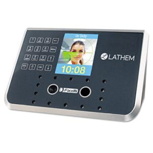 Lathem Time Face Recognition Clock System. 500 employees, Gray (LTHFR650KIT)