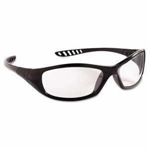 Jackson Safety V40 HellRaiser Safety Glasses, Black Frame/Clear Lens (JAK28615)