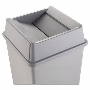 Rubbermaid 2664 Untouchable Square Swing Top Trash Can Lid, Gray (RCP2664GRAY)