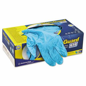 KleenGuard G10 Blue Nitrile Gloves, Powder-Free, 100 Medium Gloves (KCC57372)