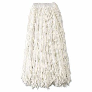 Rubbermaid Wet Mop Heads, Rayon, Cut-End, 24-oz, Rayon, 12 Mops (RCPV418)