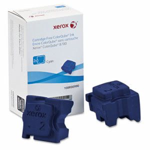 Xerox 108R00990 Ink Sticks, 4200 Page-Yield, Cyan, 2/Box (XER108R00990)