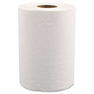 "Morcon Hardwound Roll Towels, 8"" x 350ft, White, 12 Rolls (MORW12350)"