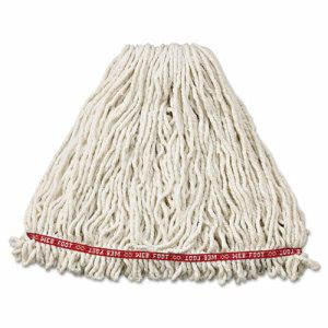 Rubbermaid A213 Web Foot Shrinkless Wet Mop Heads, Large, 6 Mops (RCPA213WHI)