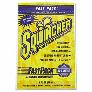 Sqwincher Fast Pack Drink Package, Lemonade, .6 Oz, 200 Packets (SQW 015303LA)