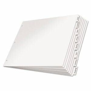 Cardinal Paper Insertable Dividers, 8-Tab, White Paper/Clear Tabs (CRD84815)