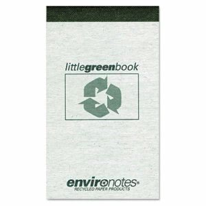 Roaring Spring Little Green Book, Gray, Narrow Rule, 3 x 5, 60 Sheets (ROA77355)