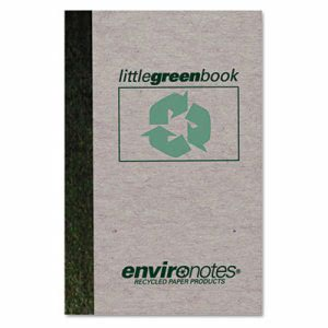 Roaring Spring Little Green Book, Gray Cover, Narrow Rule, 6 x 4, White Paper, 60 Sheets (ROA77357)