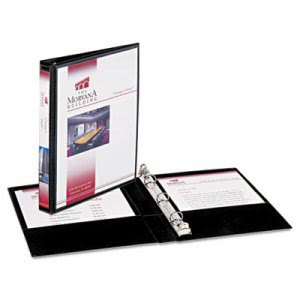 "Avery Round Ring View Binder, 8-1/2"" x 5-1/2"", 1/2"" Cap, Black, Each (AVE27725)"