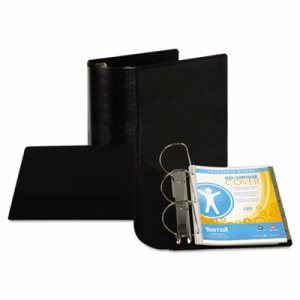 "Samsill Top Performance DXL Angle-D View Binder, 5"" Capacity, Black (SAM17700)"