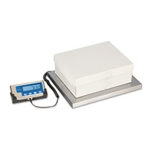 "Brecknell 400 lb. Portable Shipping Scale, 15"" x 12"", White, Each (SBWLPS400)"