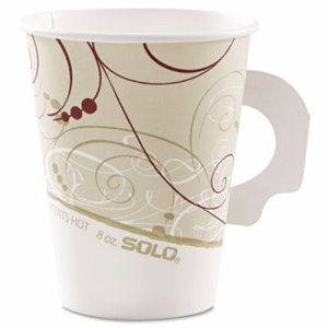 Solo Cup Company Hot Cups, Symphony, 8-oz., w/Handle, 50 Cups (SCC378HSMJ8000)
