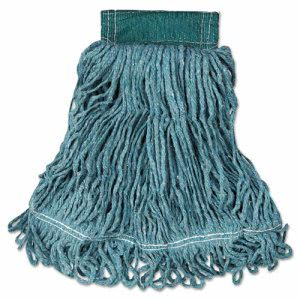 Rubbermaid Super Stitch Blend Mop Heads, Green, Medium, 6 Mops (RCPD252GRE)