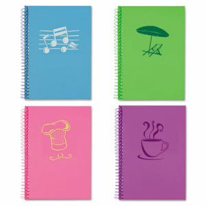 Lifenotes College Rule Notebook, 7 x 5, Assorted Covers, 4 Notebooks (ROA12531)