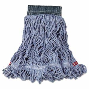 Rubbermaid Web Foot Wet Mop, Cotton/Synthetic, Blue, Medium, 6 Mops (RCPA152BLU)