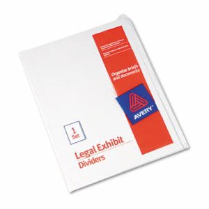 Avery Blank Tab Legal Index Divider, 25-Tab, Letter, White, Set of 25 (AVE11959)